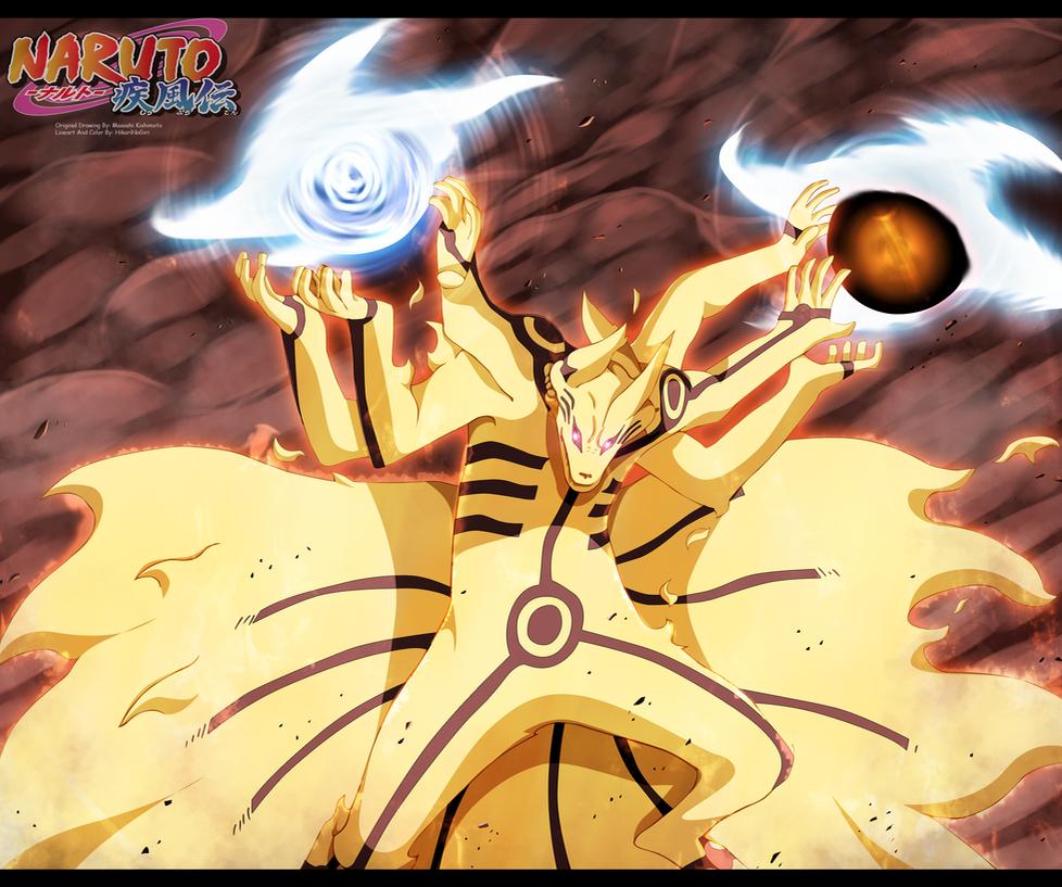 Naruto 696 - Fuuton Biju dama Shuriken by HikariNoGiri