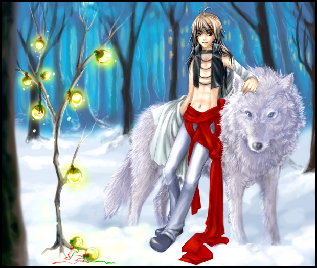 Christmas Wolf.A Wolf S Christmas By Kamui1st On Deviantart