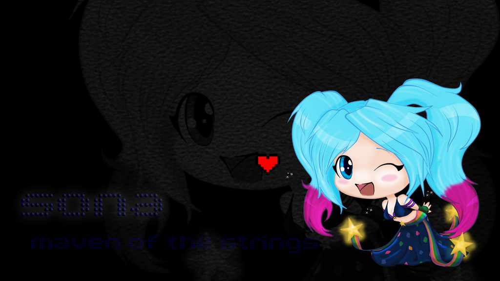 Chibi Sona Wallpaper By KittyKitsune13