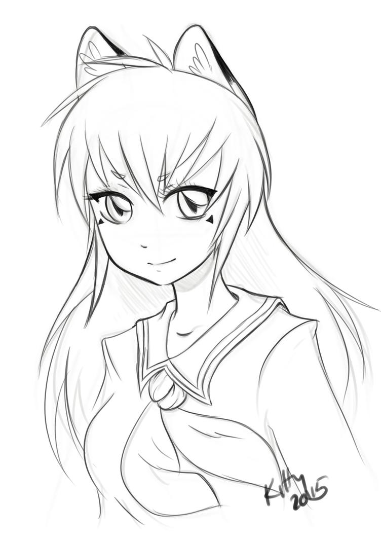 Kitsune Girl by KittyKitsune13