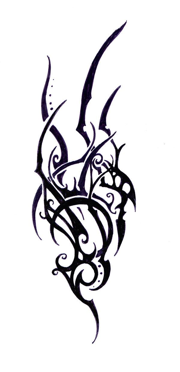 elven tribal tattoo study 1 by elbie3rd on deviantart. Black Bedroom Furniture Sets. Home Design Ideas