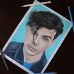 Yungblud (Dominic Harrison) colored pencil drawing