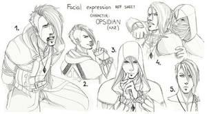 Facial expression sheet 1