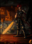 Fire swordman