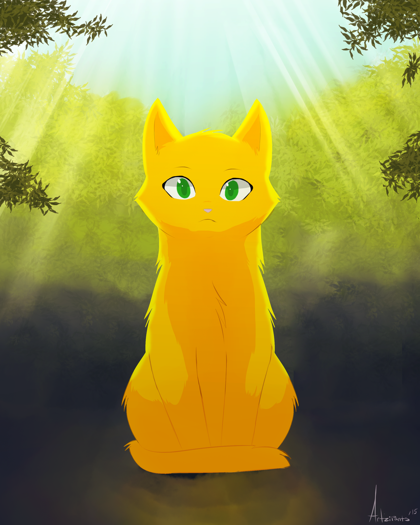 Sss Warrior Cats The Movie: Firepaw By Artzipants On DeviantArt