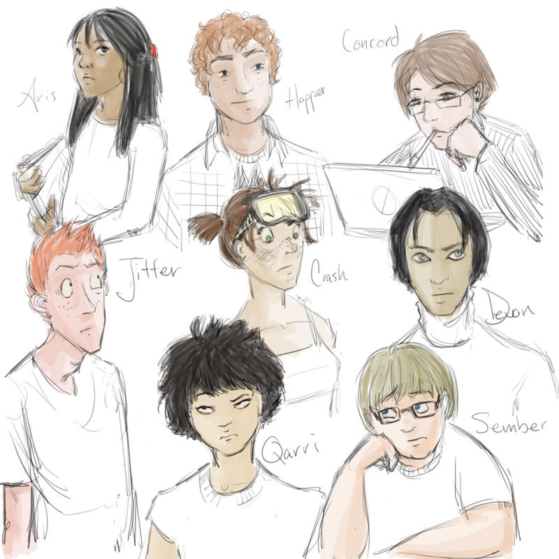room on the roof characters sketch