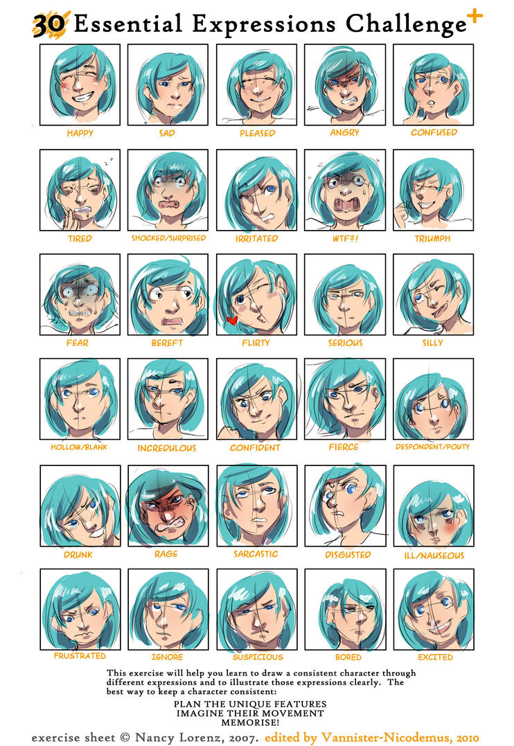 30 Expression Challenge by jaz1407