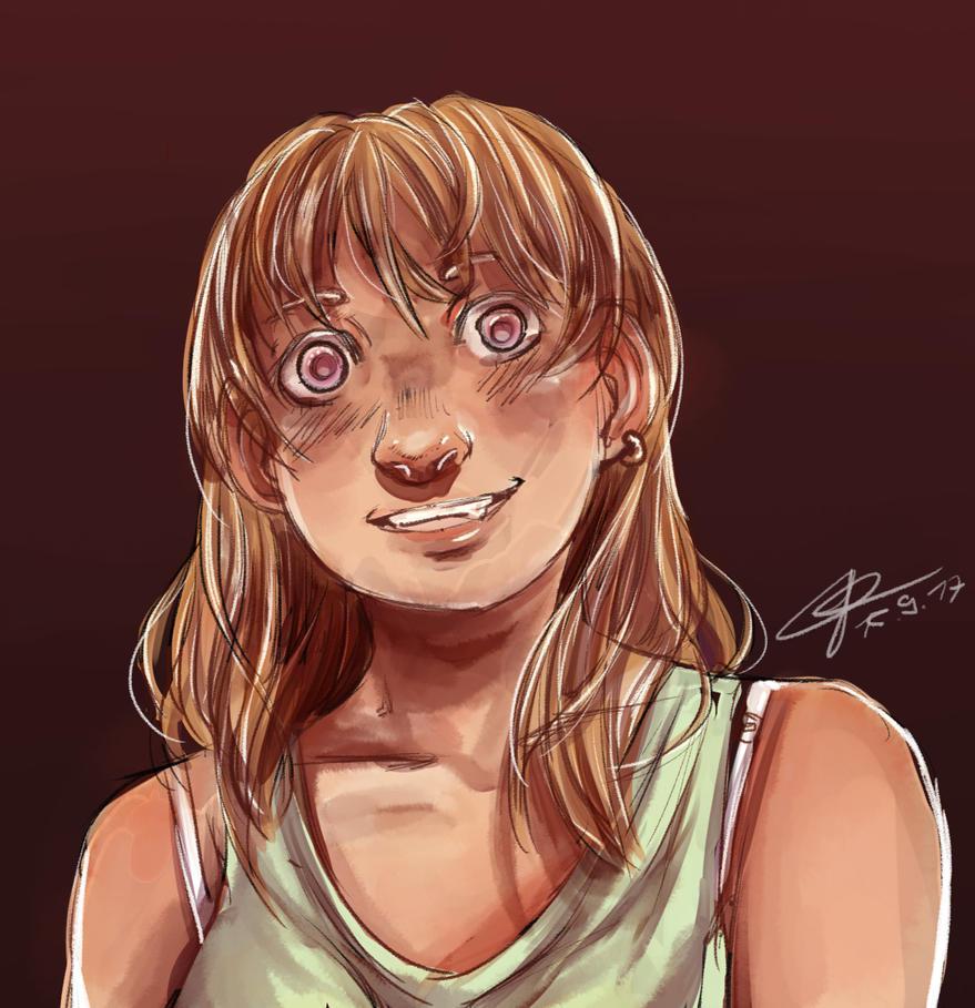 Random creapy girl :D by jaz1407