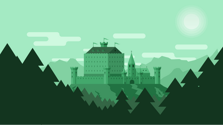 Castle in the Green Mountains by WenteroLP
