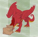 Dragon and a box