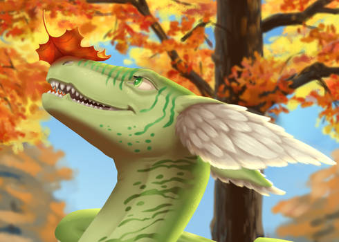 YCH - Autumn leaves (close-up)