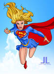 Supergirl in flight 2.2   9-21 by johnleighs01