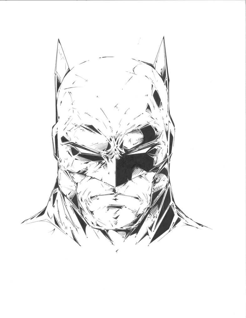 Batman Drawing - Head With Ink Finish By TonyTruongson On DeviantArt