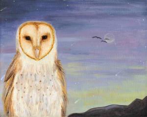 Barn Owl Totem Painting