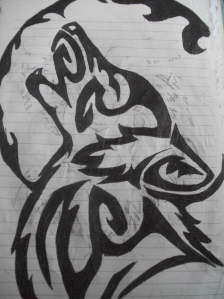 Tribal Wolf Howl by MusicForTheEyes on DeviantArt