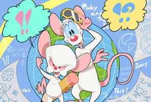 Pinky and the Brain 7 by Natsu-Nori