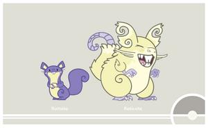 Pokemon #019-020 by Cosmopoliturtle