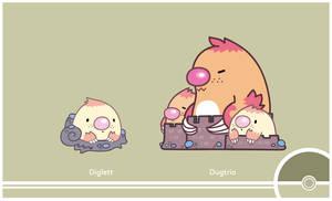 Pokemon #050-051 by Cosmopoliturtle