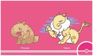 Pokemon #096-097 by Cosmopoliturtle