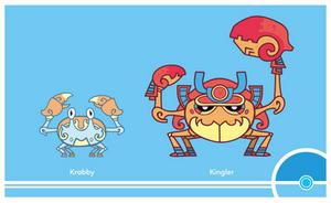 Pokemon #098-099 by Cosmopoliturtle