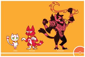 Pokemon #725-726-727 by Cosmopoliturtle