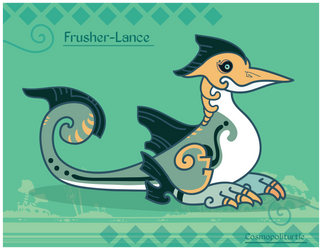 Hiraeth Creature #958 - Frusher-Lance by Cosmopoliturtle