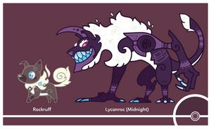 Pokemon #744-745 (Midnight) by Cosmopoliturtle