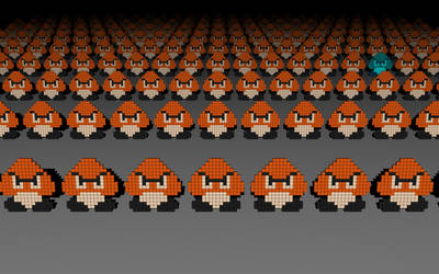 Goomba Army by 8-bit-Anon