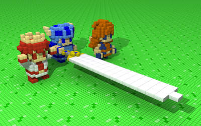 3D Dot Game Heroes by 8-bit-Anon