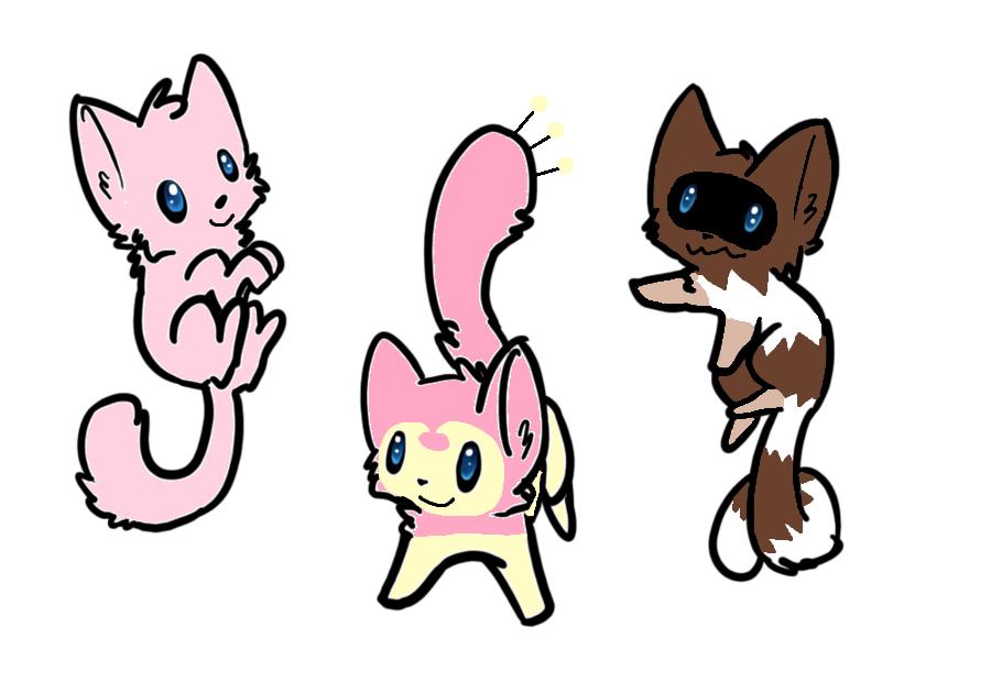 pokemon cat adoptables 2 open by raysaur on deviantart