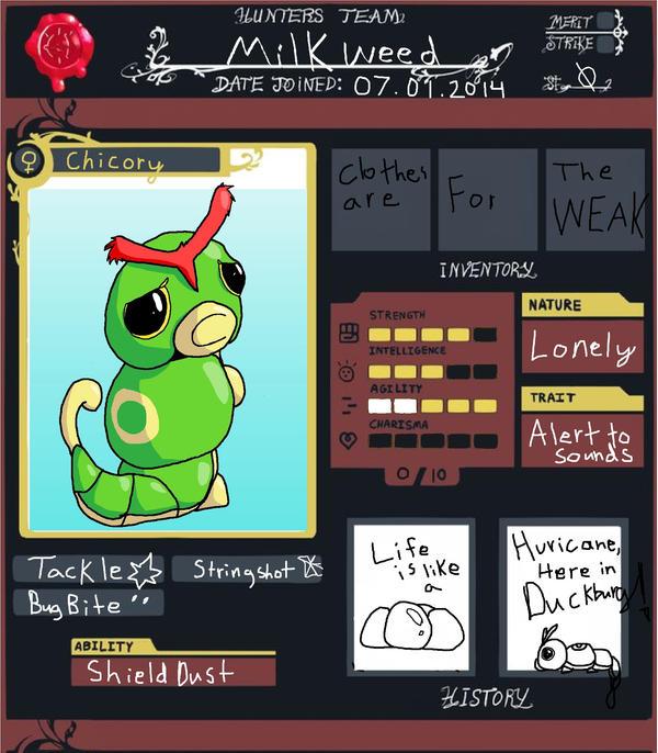PMDU~ Team Milkweed by Raysaur