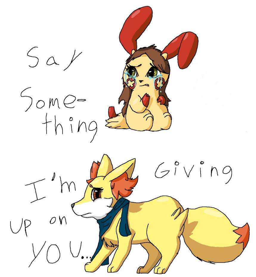 Say Something by Raysaur