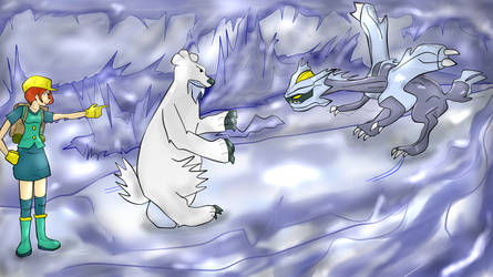 Battle in Ice Cave by cronosx2008