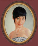 The oval portrait. oil painting 1047 / 2013