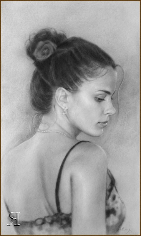 Portraits of Russian women. drawing #1 by yakovdedyk