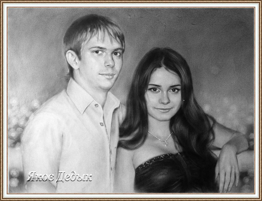 portrait dry brush #1046 by yakovdedyk