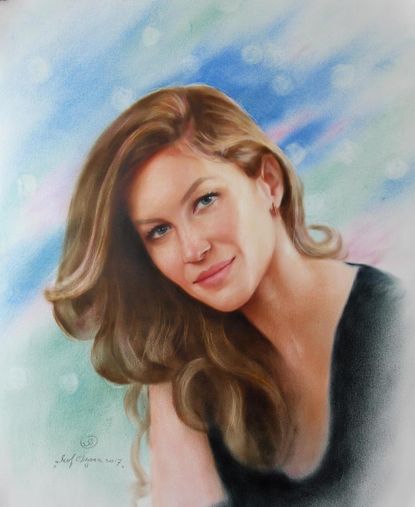 Portrait of Giselle Bundchen . 466 by yakovdedyk