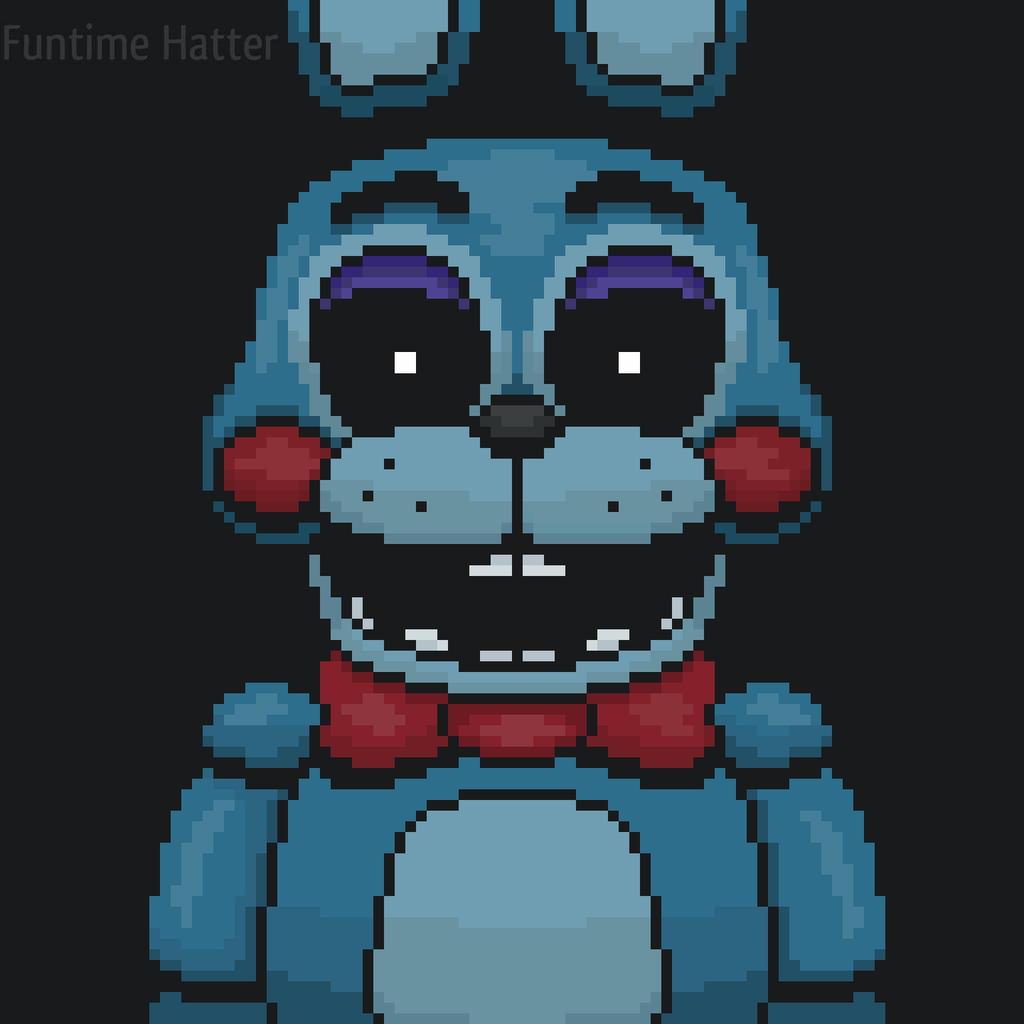 Toy Bonnie Pixel Art Fnaf 2 By Funtimehatter On Deviantart