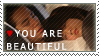 You Are Beautiful Fan Stamp by anetka