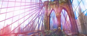 Overgrown Brooklyn Bridge by raymondafcripps
