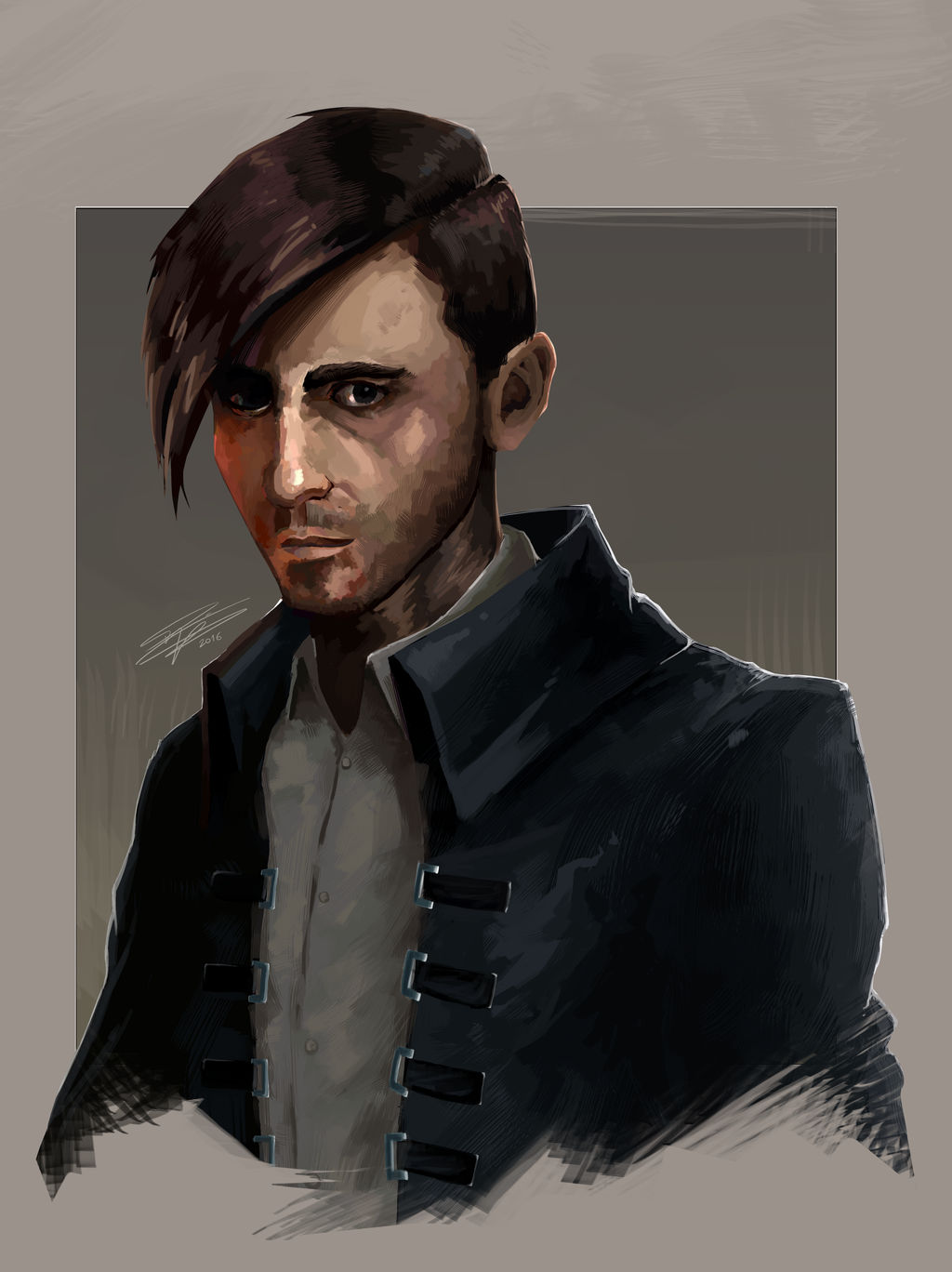 Antiquated Ray in the style of Dishonored by raymondafcripps