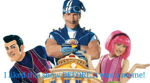 I liked Lazy Town BEFORE it was a meme! Stamp