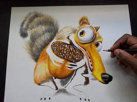 Scrat drawing from Ice Age
