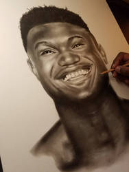 Zion Williamson NBA star drawing