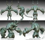Kihb'ar Druid Warrior Concept by NBQuaternion