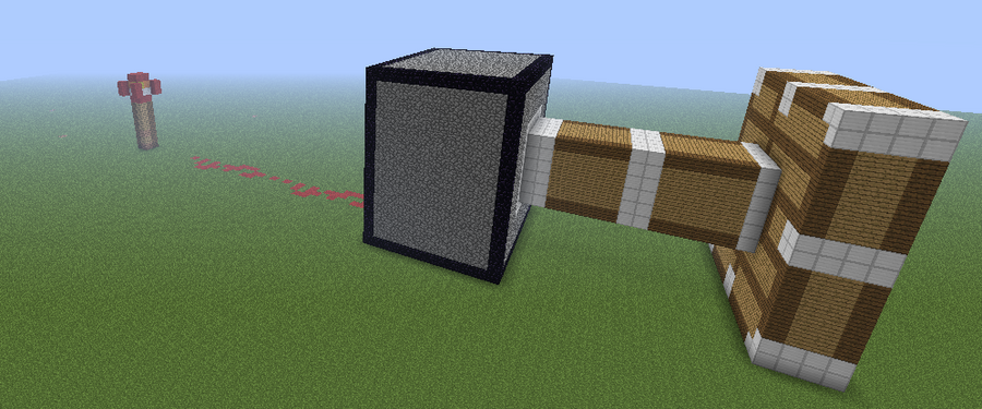 giant piston with red stone and torch by minecraft1113
