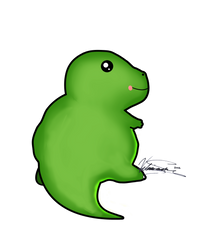 Kawaii Dinosaur - Shaded Version