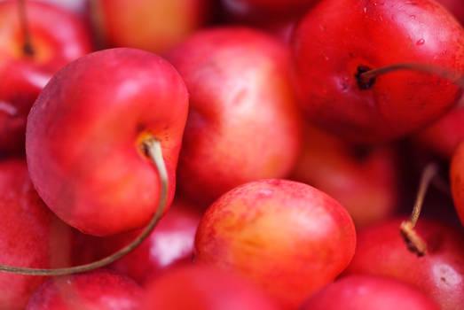 Cherries close up -Macro-texture-pattern-wallpaper