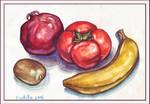 watercolor fruits3 by norwegian-girl
