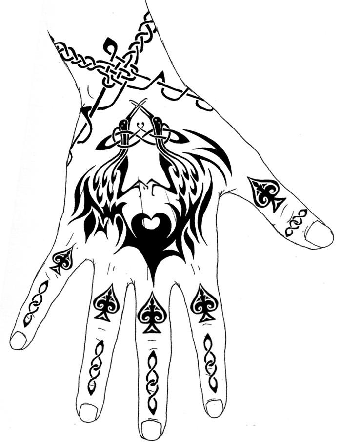Hand Tattoos by aurussteelsword